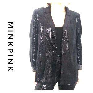 NWT ~MINKPINK Sequin Jacket / Blazer